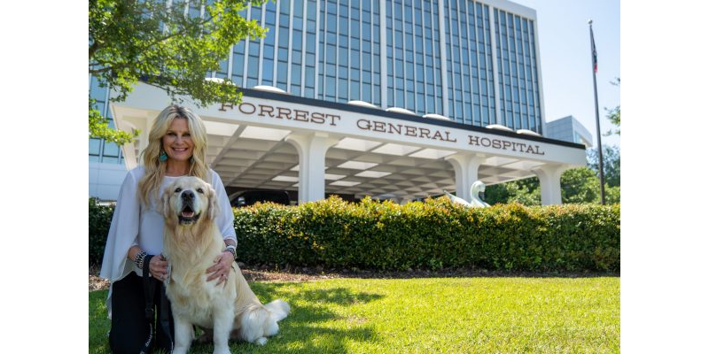 Major Payne and owner, Keri Galey - Therapy Dog